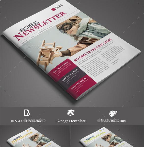 business newsletter ideas