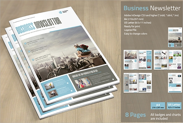 Business Newsletter 9 Premium Download – Sample Business Newsletter