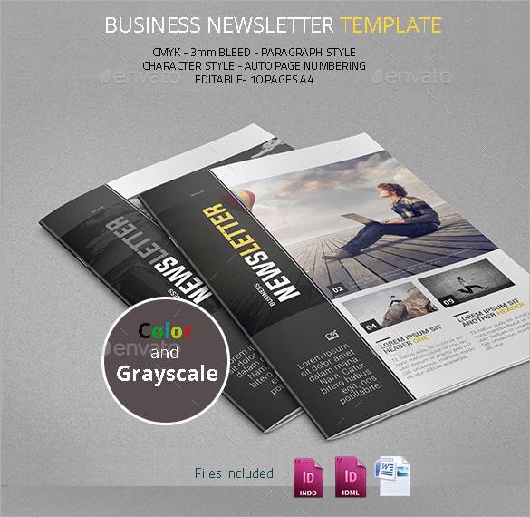 business newsletter sample