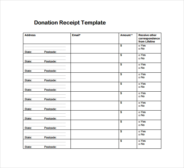 Sample Receipt Template 16 Free Documents in PDF Word Excel – Itemized Receipt Template