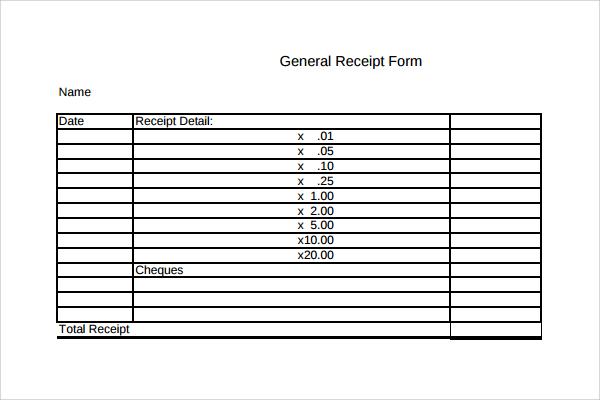 general receipt template1