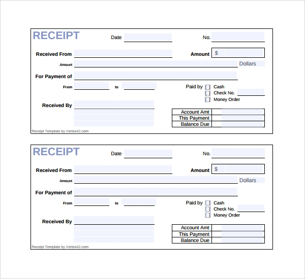 Sample Receipt Template Free Documents In PDF Word Excel - Simple invoice template