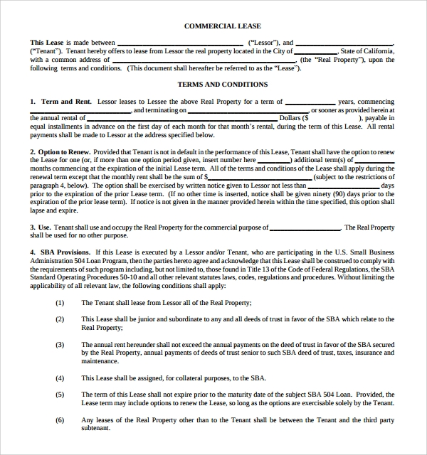 Useful Sample  Leasing Agreement Templates