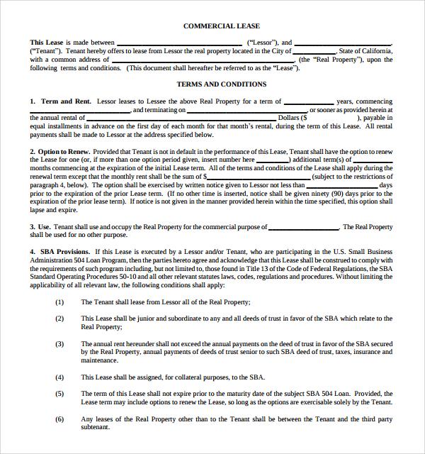 Useful Sample  Leasing Agreement Templates