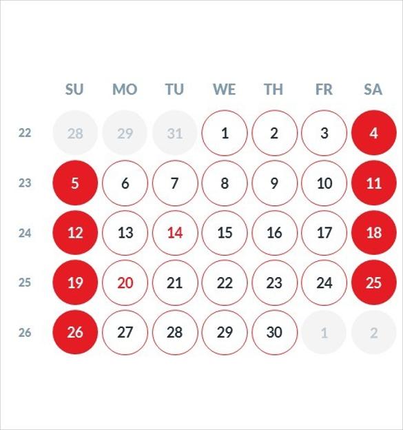 sample 2016 calendar powerpoint template download