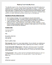 Scholarship Thank You Letter PDF