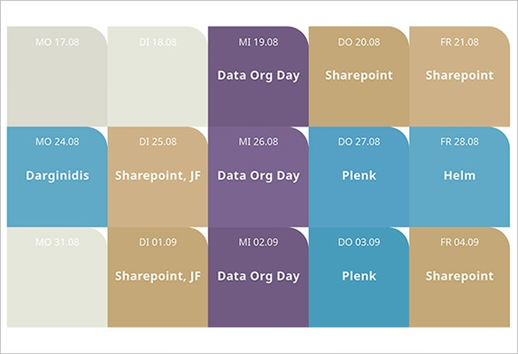 Power Point Calendar Template. Powerpoint Calendar Template Best