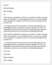 Thank You Letter to Boss for Recommendation Template