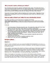 Thank You Letter for Scholarship Gift PDF Template Free Download
