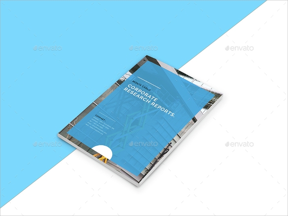 corporate research brochure template