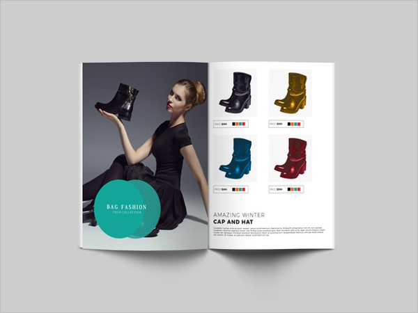 fashion product brochure template