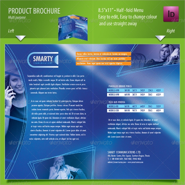 14 product brochure templates sample templates for Product brochure templates free download