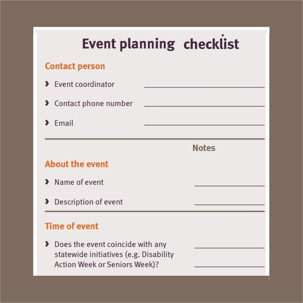 Party Planning Checklist Template  BesikEightyCo