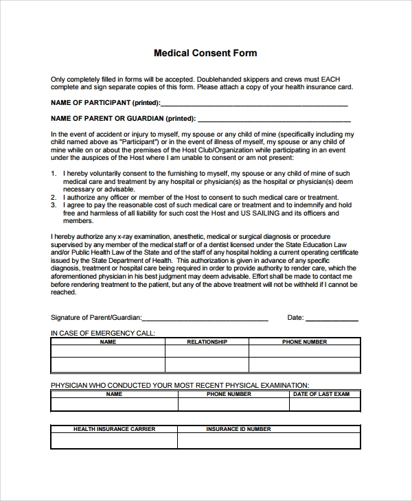 medical consent form1