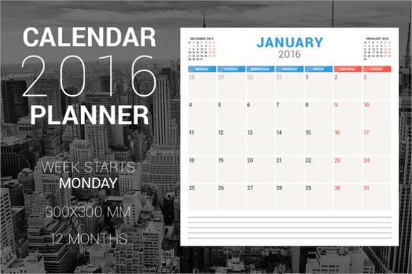 indesign calendar planner