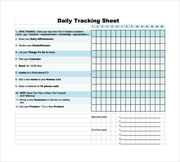 daily call tracking sheet pdf