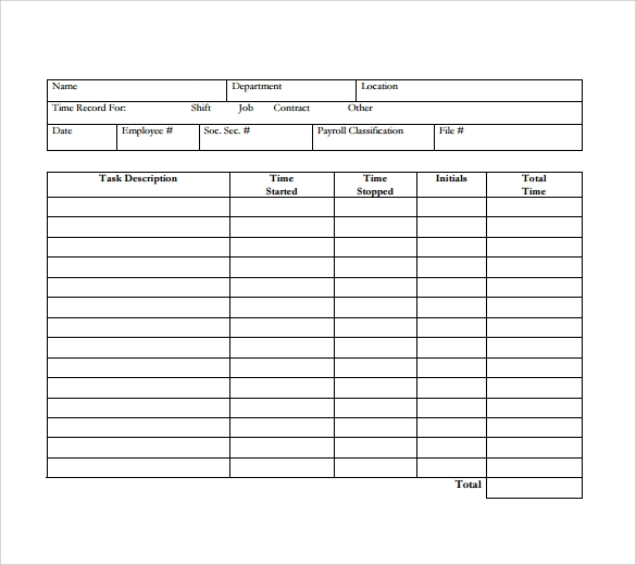 download daily timesheet template