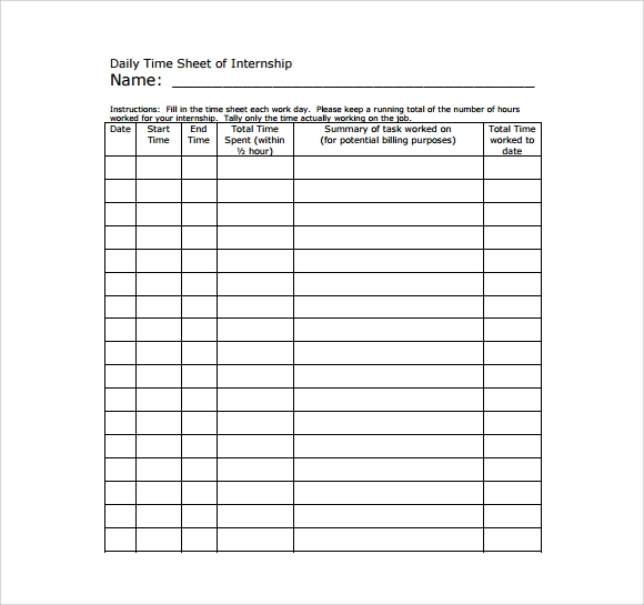 free 17  sample daily timesheet templates in google docs