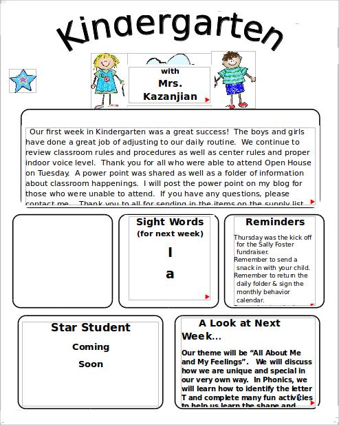 9+ Kindergarten Newsletter Templates   Free Sample, Example, Format
