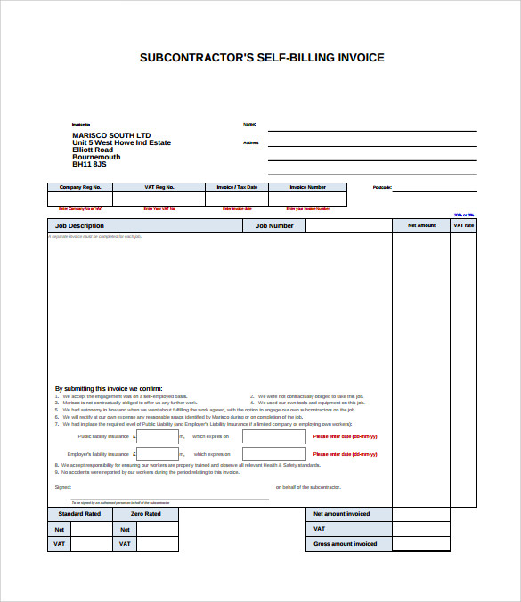 13 billing invoice samples sample templates