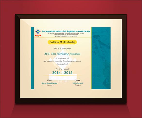 membership certificate download