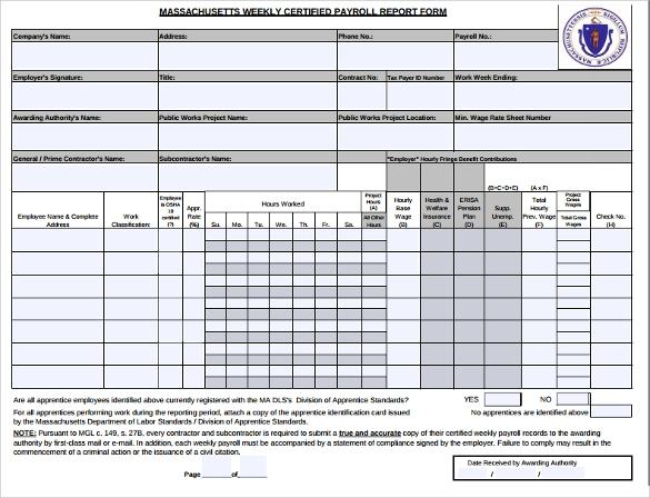 Sample Blank Payroll Form Template   Free Documents In Pdf Word