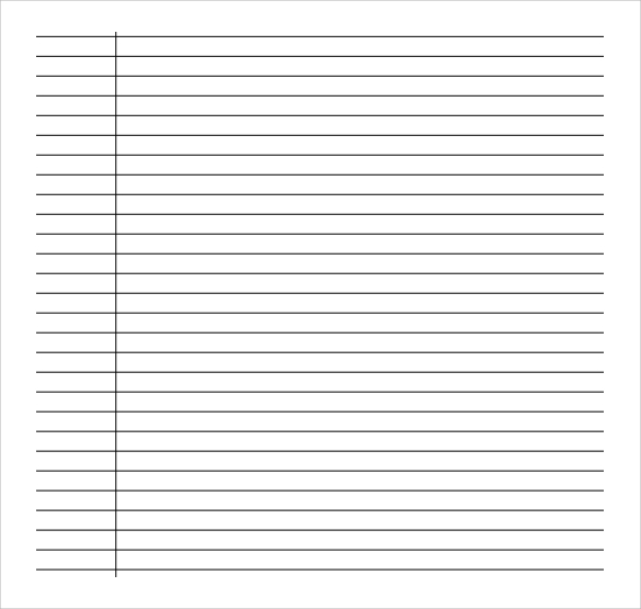 Sample College Ruled Paper Template 9 Free Documents In PDF Word – Lined Paper Template for Word
