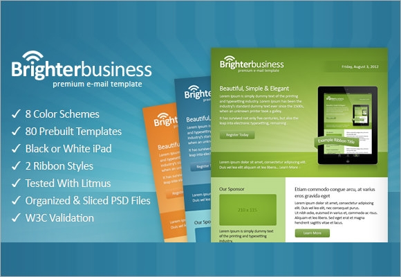 professional business email template1
