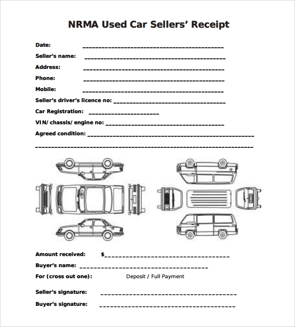 general receipts template