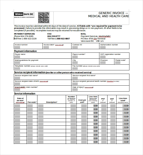 Sample Medical Receipt Template   Free Documents In Pdf Word