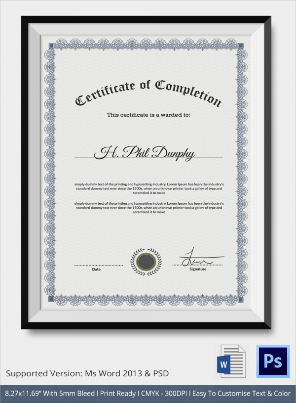 Graduation Certificates  Psd Word