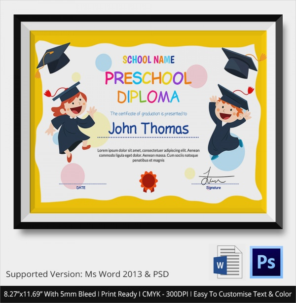 Free 19 Graduation Certificates In Illustrator Indesign