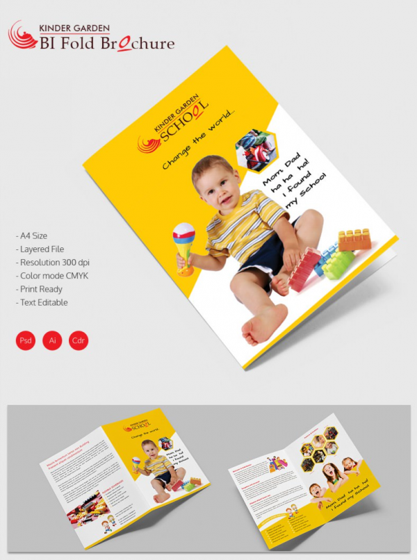 School brochure 22 download in psd vector pdf for Folded brochure template