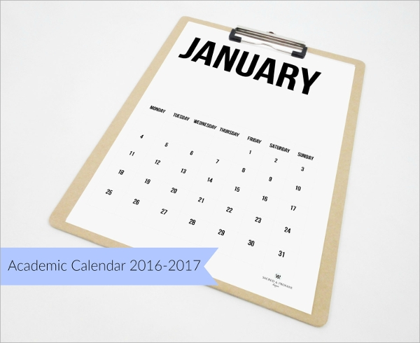 8 Academic Calendars PSD Vector EPS – Sample Academic Calendar