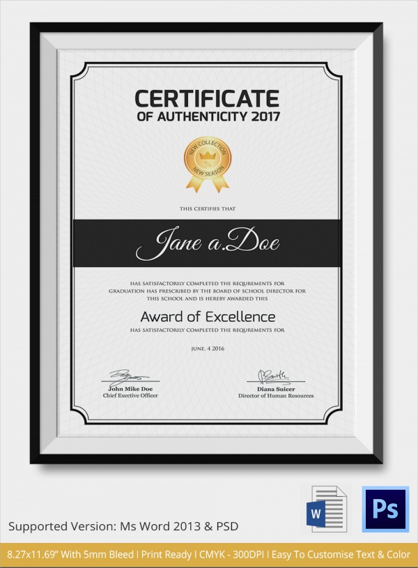 Certificate Templates Archives U2013 Sample Templates Certificate Of Excellence  Template U2013 Sample, Example, Format. 52+ Free Printable Certificate Template  ...