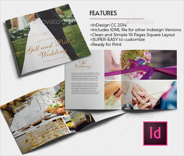 elegant brochure templates - 12 wedding brochures sample templates