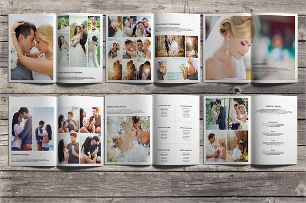 attractive wedding brochure template