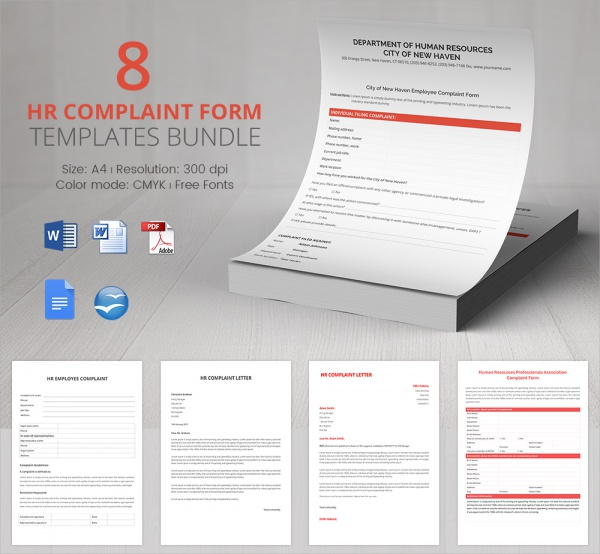 hr complaint form bundle