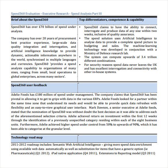 360 vendor evaluation