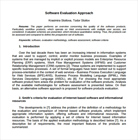 Delighted Software Evaluation Report Template Gallery  Examples