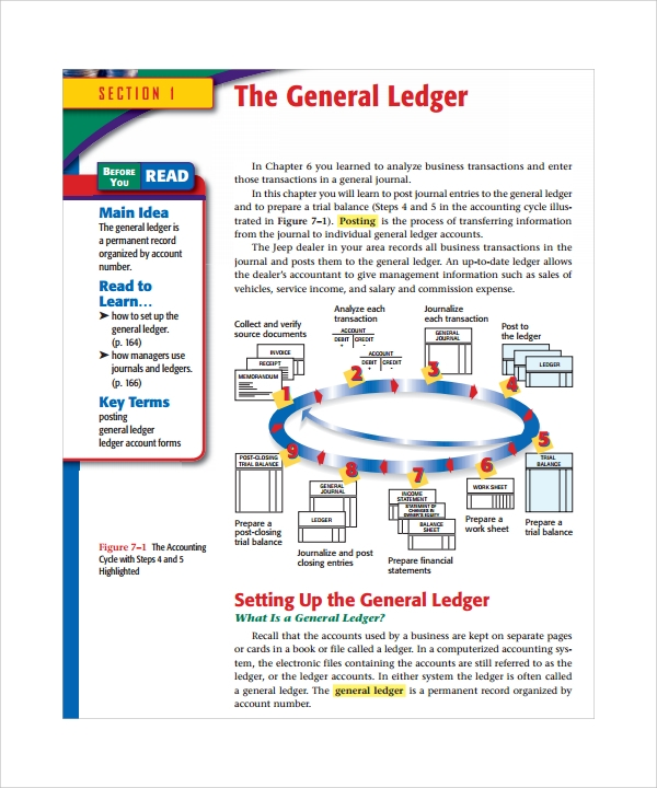 example of general ledger paper