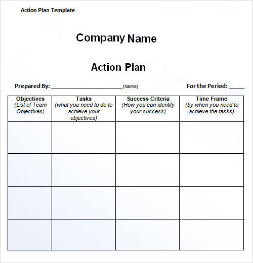 27 plan templates sample templates for Sales manager action plan template