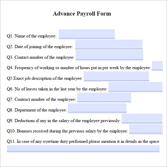 Advance Payroll : How To Get A Quick Loan With No Credit
