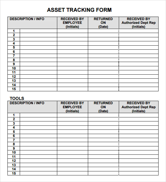 sample inventory forms templates