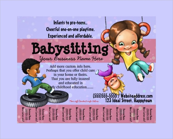 Babysitting Flyers Sample Templates - Babysitting flyer template microsoft word free
