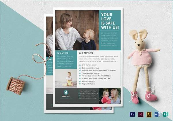 baby sitting flyer template1