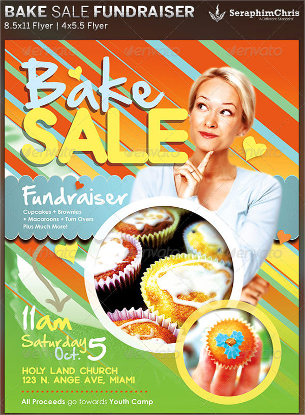 Bake Sale Flyers  Psd Vector Eps
