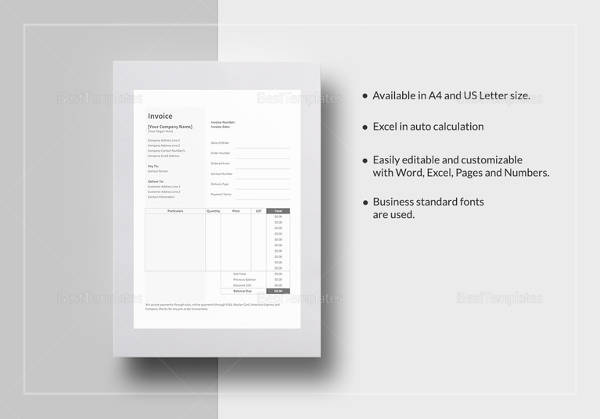 Catering Invoice Sample Documents In PDF - Bakery invoice template