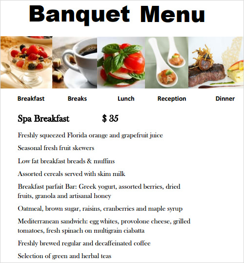 Sample Menu Template 29 Download In Pdf Psd Wor