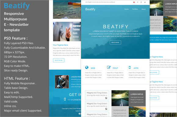 beatify responsive email template